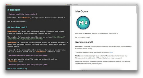 Markdown编辑器MacDown