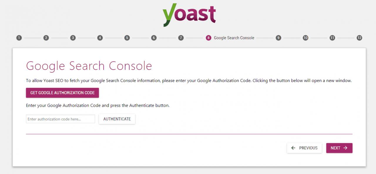 yoast谷歌搜索控制台