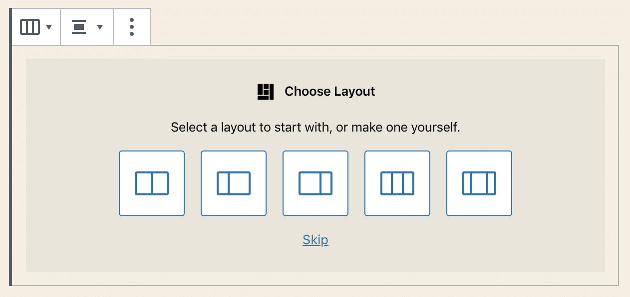 列块布局选择器
