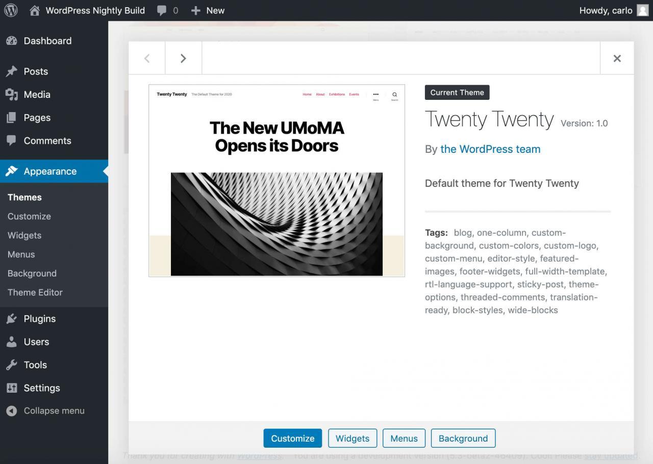 20个20个WordPress主题