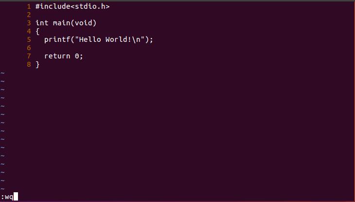 vim编写C程序