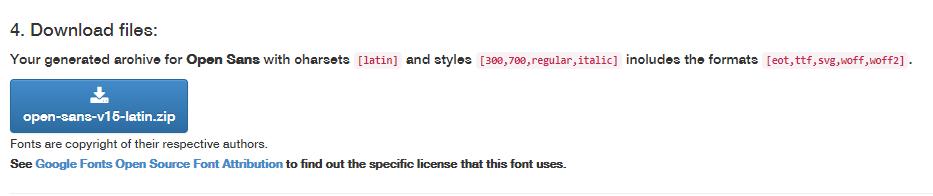 下载谷歌字体文件