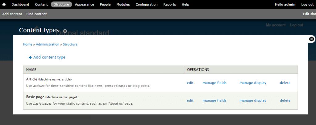 Drupal自定义内容类型的示例