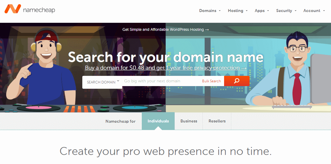 Namecheap官网