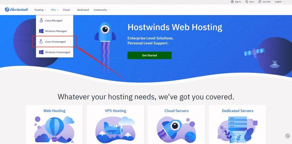 2021 Hostwinds 购买安装 V2Ray 教程