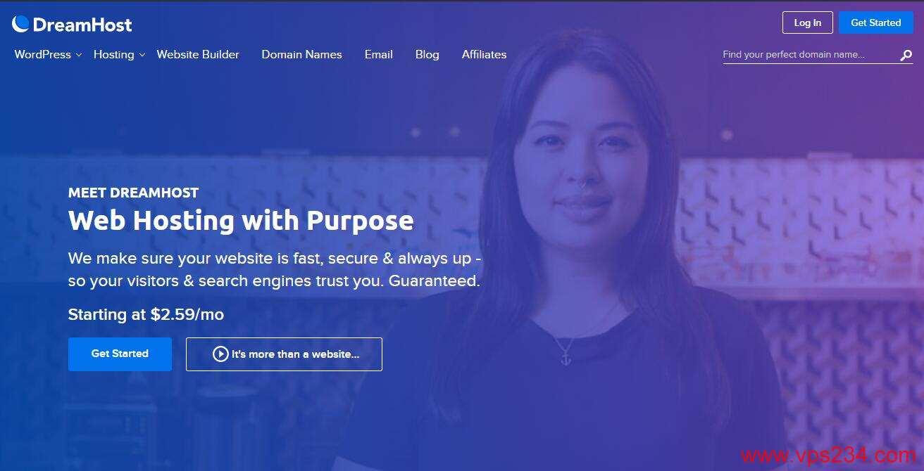 DreamHost 最适合建站的美国VPS推荐 - 无限流量 - 免费SSL